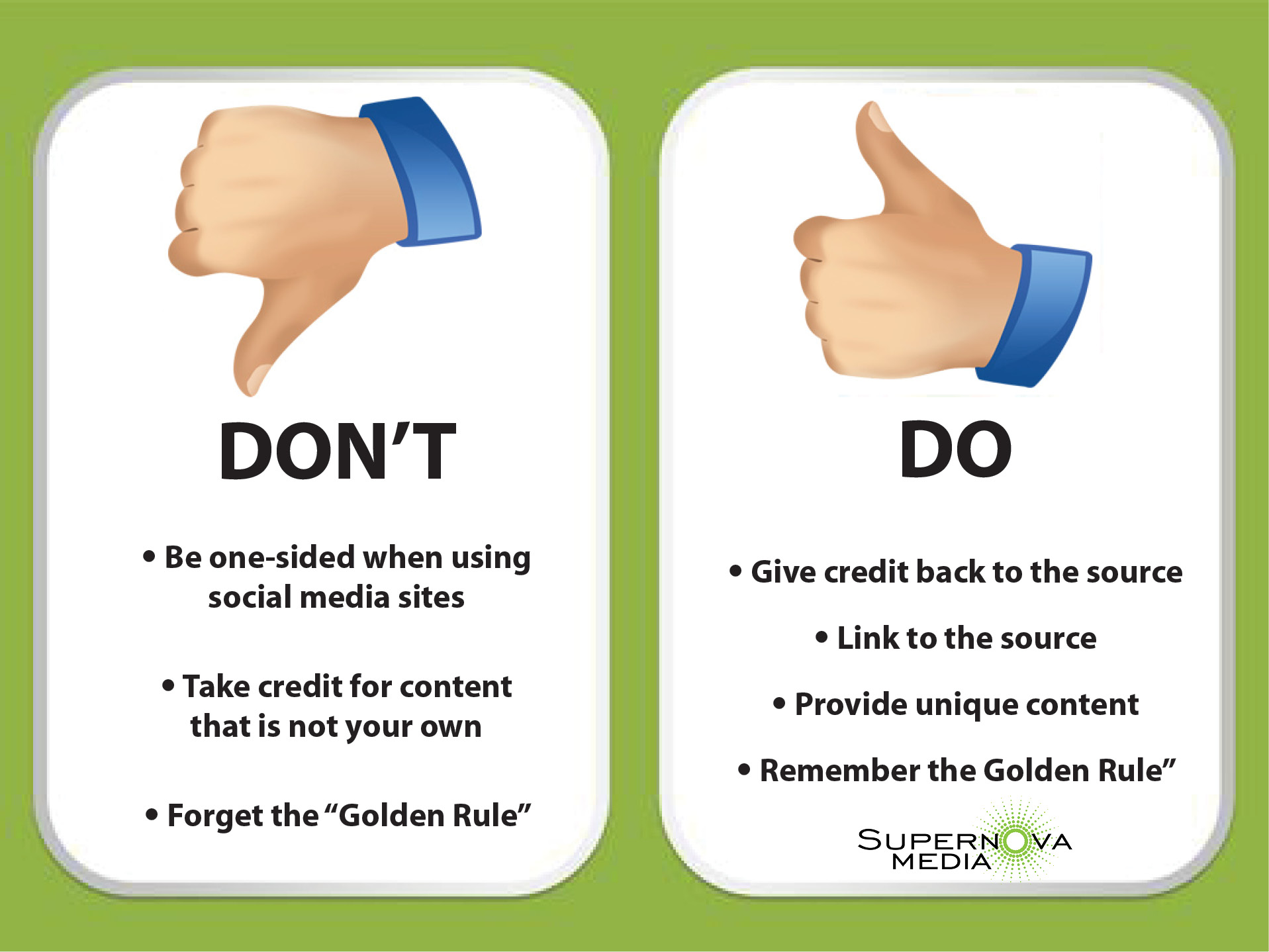 Social Sharing Etiquette - The golden rule