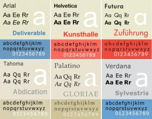 This is a sample of some of the best web fonts: Arial, Helvetica, Futura, Tahoma, Palatino, and Verdana.